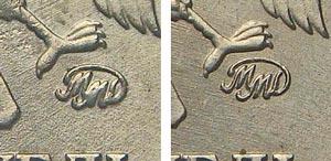 Редкий 1 рубль 1998 года: сравнение монограмм