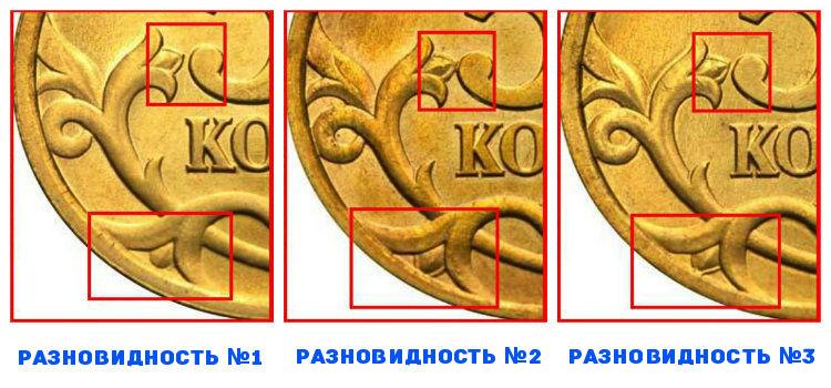 50 копеек 2003 года и ее разновидности №1, №2, №3